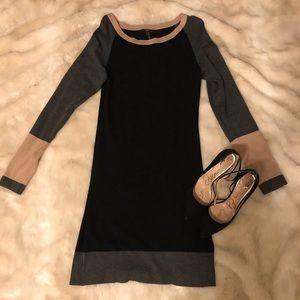 Colorblock Sweater Dresss